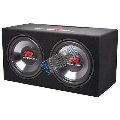 "Renegade by Rockford Fosgate RXV1202 12"" 1200W Dual Sub-Woofer Loaded Enclosure"