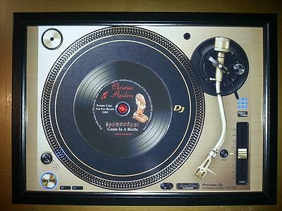 CHRISTINA AGUILERA Vinyl Promo copy playing on a turntable CD Memorabilia Frame