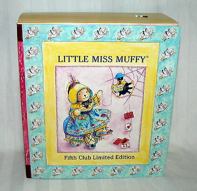 Little Miss Muffy Fifth Club Limited Edition PLUSH BEAR BOX & CERT OF AUTHENTIC