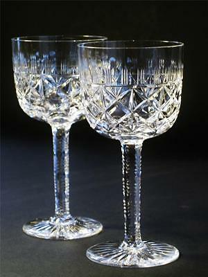 Estate Antique crystal pair of cordial glasses. Top condition.