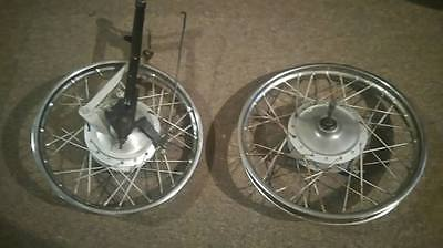 1973 Yamaha GT80 front and rear wheels complete