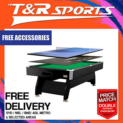 8Ft Green Mdf Pool Snooker Table + Poker + Table Tennis Top Free Metro Post*