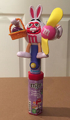 Collectible Easter bunny M&M's candy dispenser with working fan! New and sealed!