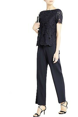 d8a0319a2  500 Tory Burch Avalon Jumpsuit LACE BODICE OVERLAY SOPHISTICATED CLASSY  NAVY 8