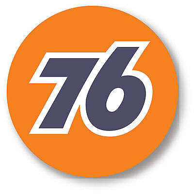 76 Oil GAS SUPER HIGH GLOSS OUTDOOR 4 INCH DECAL STICKER