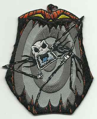 NIGHTMARE BEFORE CHRISTMAS scary jack - EMBROIDERED SEW/IRON ON PATCH import