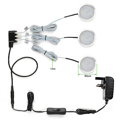 6W 510lm LED Under Cabinet Lighting Kit Lights Warm/Daylight white+ Accessories