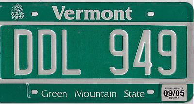 ������  Authentic Usa 2005 Vermont License Plate. *green Mountain State