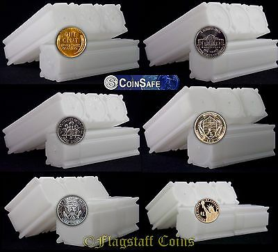 25 CoinSafe Square Coin Storage Tubes - Assorted - You Pick - Made in USA!