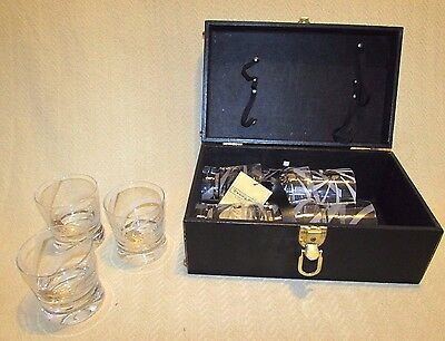 Vintage Everwear Travel Portable Bar w/ 9 Russian Standard Vodka Rocks Glasses