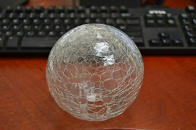 """Reproduction Clear White Glass Float Fishing Ball With Hole 3"""" F-901Ch"""