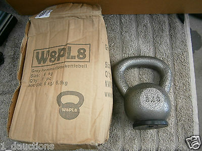 Grey Hammer Tone 6Kg Cast Iron Kettle Bell W8Pl8