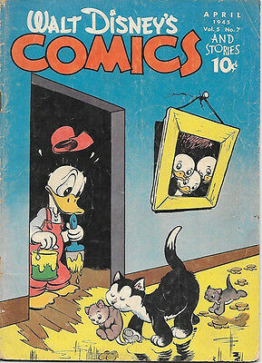 Walt Disney's Comics and Stories Comic Book #55, Dell Comics 1945 GOOD+