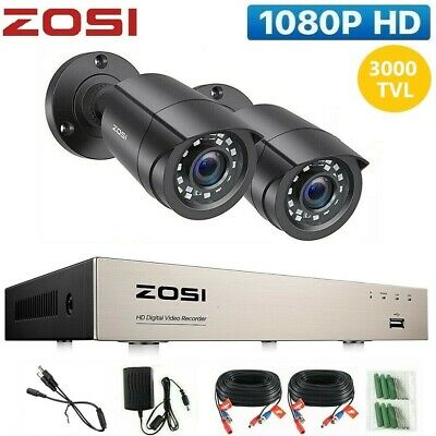 ZOSI 8CH HDMI DVR 1500TVL Outdoor Dome CCTV Video Security Camera System 1TB HD