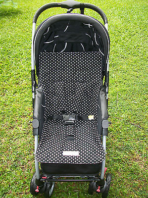 *BLACK,STARS*universal stroller,pram,car seat liner set *NEW*