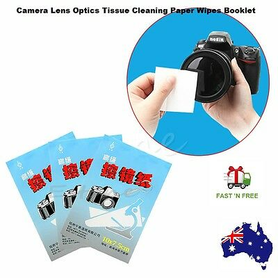 Camera Lens Optics Tissue Cleaning Clean Paper 50 pieces Sheets Soft Wipes Book