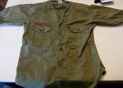 008 Vintage Boy Scouts of America Shirt Sanforized Olive Green