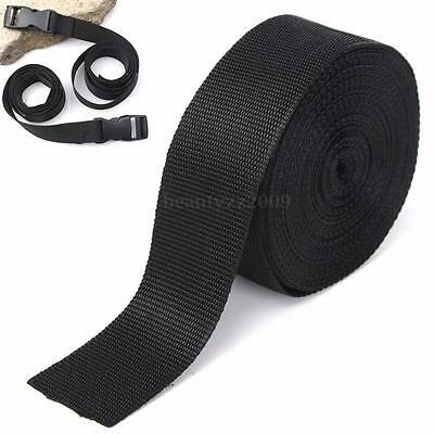 5cmx10m Black Nylon Fabric Webbing Tape For Making Strapping Belting Bag Strap