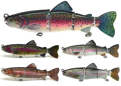 "6"" Pike Fishing Bait Lure Swimbait Life-like Trout Striper NEW"