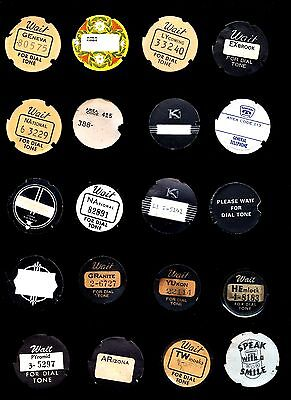 20 Automatic Electric & Western Electric dial centers dial cards & number cards