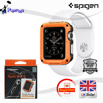 New Genuine Spigen Apple Watch Case Tough Armor Tangerine Tango / 42mm