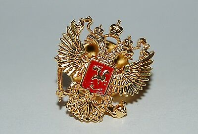 Gold plated badge coat of arms of Russia Russian Federation