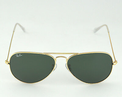 rb3025 aviator large metal l0205  Ray Ban RB 3025 Aviator Classic L0205 Gold Frame/Green Classic G ...
