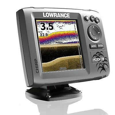 Lowrance HOOK-5x CHIRP Fishfinder c/w Hybrid HDI CHIRP Downscan Transducer