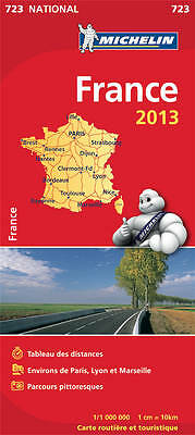 France 2013 National Map (booklet) 723 (Michelin National Maps),Michelin,New Boo