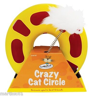 Cat Kitten Catch Mouse Plush Moving Scratching Claw Circle Toy Bell Ball Cats