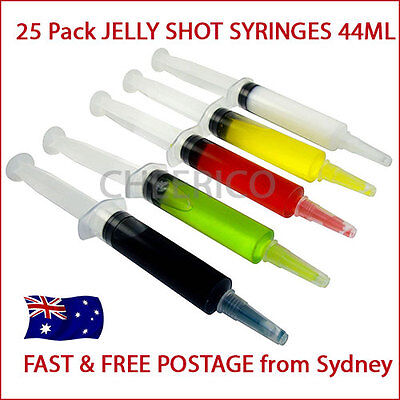 25 X Jello Shot Syringes (1.5oz 44ml) Syringe Shooters Jelly Cocktail Party Pack
