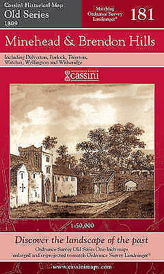 Minehead and Brendon Hills (Cassini Old Series Historical Map),VARIOUS,New Book