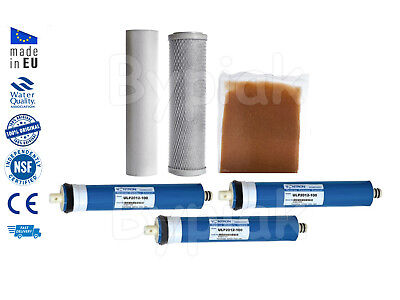 4 Stage RO Reverse Osmosis unit with DI resin chamber 300GPD Replacement Filters