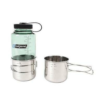 Olicamp Space Saver Cup - From High Quality Stainless Steel, Wire Handles Fold