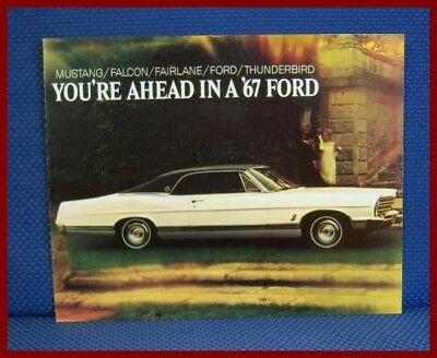 1967 FORD Automobile Color Sales Catalog Brochure - New Old Stock
