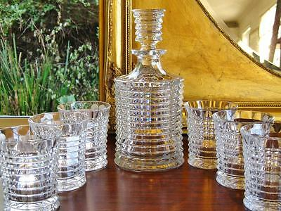"Bohemia crystal 7 piece ""Tennesse"" spirit decanter & tumblers set. NEW"