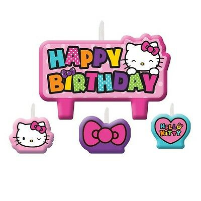 Party Supplies Girls Birthday Decorations Hello Kitty  Rainbow Candle Set
