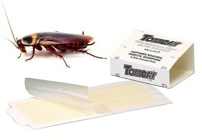 TOMCAT HOUSEHOLD PEST GLUE BOARDS x 4 Cockroach Insects Disposable Sticky Traps