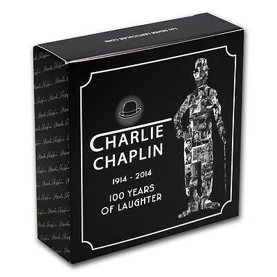 2014 1 oz Silver Charlie Chaplin 100 Yrs of Laughter Coin