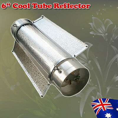 "Hydroponics 6"" 150mm Sliver Cooltube Reflector 620mm Long For HPS MH Lamps"