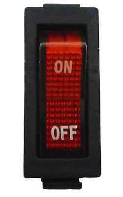 AC 250V 15A 20A Red Light illuminated ON/OFF 2 Position Rocker Switch 3 Pin