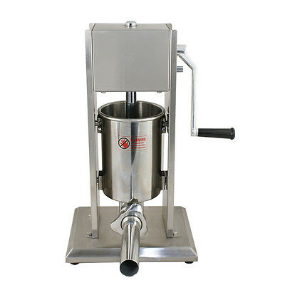 3L Vertical 7LBS Commercial Stainless Steel Sausage Stuffer Restaurant Meat