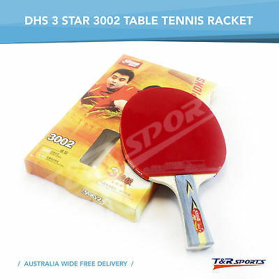 DHS 3002 Table Tennis Rackets 3 Star Paddle Shake Hand Long Handle Free Post
