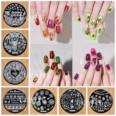 2019 New Stamping Plates Hehe Image Stamp Template Nail Art Design Latest