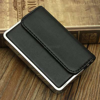 Fashion Pocket PU Leather Business Name ID Credit Card Holder Wallet Case Keeper