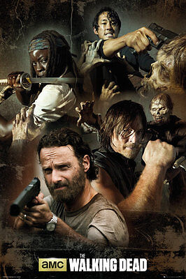FP3734 THE WALKING DEAD Collage MAXI POSTER 61cm x 91.5cm