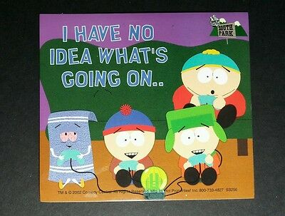 SOUTH PARK I HAVE NO IDEA PLAYING GAMES WITH TOWEL CARTOON 4x4.5 TV STICKER