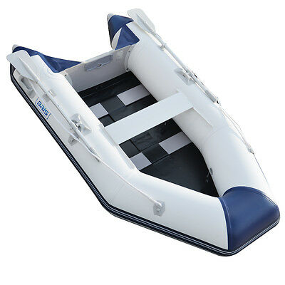 2.7M Inflatable Boat Inflatable Pontoon Dinghy Raft Boat tender With Slat floor