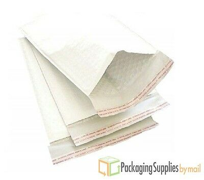 1000 USA White Kraft Bubble Mailers #3 Padded Envelopes 8.5x14.5 Shipping Bags
