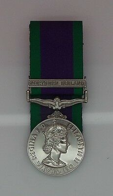 Full Size Court Mounted General Service Medal 1962 GSM & Northern Ireland Clasp